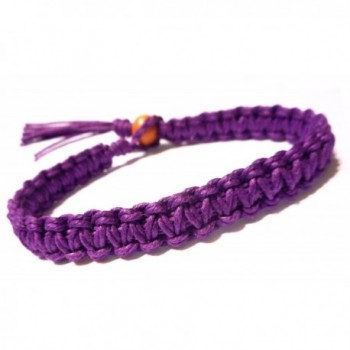 Purple Surfer Hawaiian Style Hemp Bracelet - Handmade - CC1104OBO95