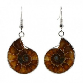 Justinstones Natural Ammonite Fossil Earrings - CA125GFMDOB