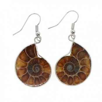 Justinstones Natural Ammonite Fossil Earrings
