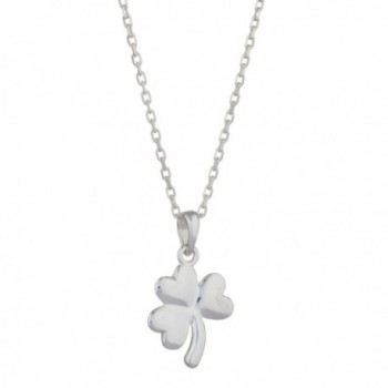 """[S44397] Shamrock Pendant in Sterling Silver with 18"""" Silver Chain - C21264EV5NX"""