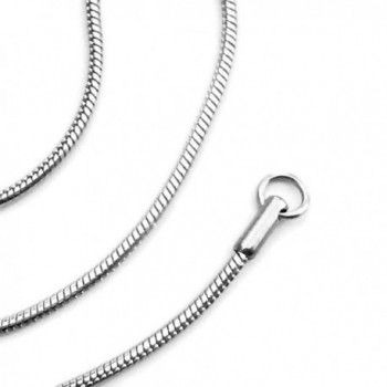18 Inch Stainless Steel Snake Necklace Chain Solid Round Smooth 2mm - CM11KCU44GL