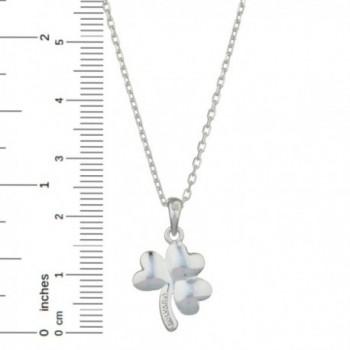 S44397 Shamrock Pendant Sterling Silver in Women's Pendants