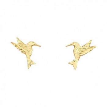 Women's 14k Yellow Gold Hummingbird Small Tiny Baby Post Earrings (0.47 in x 0.43 in) - CD12IIVNG05