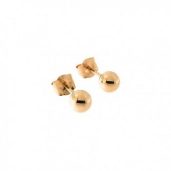 14k Rose Gold Ball Stud Earrings- 4mm - C1128BGRSQF
