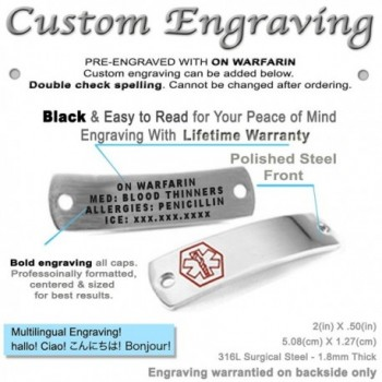 MyIDDr Pre Engraved Customizable Warfarin Bracelet