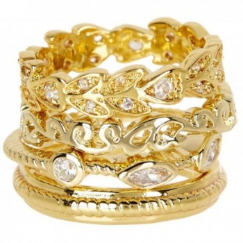 CZ Wholesale Gemstone Jewelry Stackable Ring Set - CG184Q6C76S