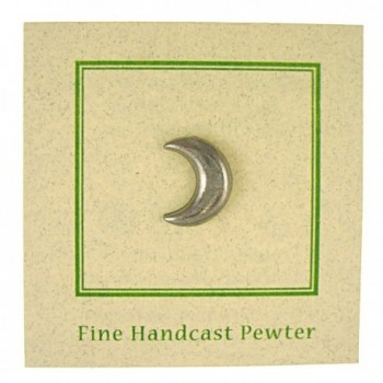 Crescent Moon Lapel Pin Count in Women's Brooches & Pins