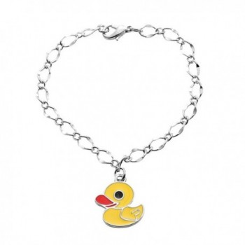 SENFAI the Latest Fashion Design Small Pendant Bird Animal Link Bracelet for Children Gift Yellow Color - CV128WA5XMF