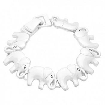 Rosemarie Collections Women's Lucky Elephant Magnetic Charm Bracelet - C811TEHN3ER