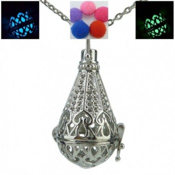Fairy Glow in the Dark Icecream Microphone Locket Aromatherapy Essential Fragrance Necklace - CR124YY0D9H