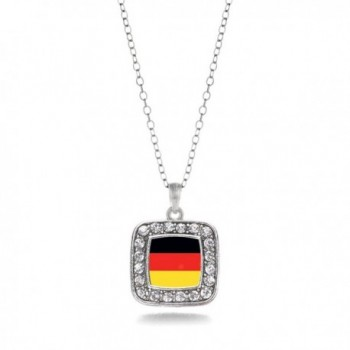 Germany Classic Silver Crystal Necklace in Women's Chain Necklaces