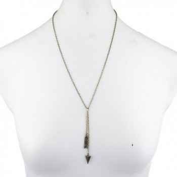 Lux Accessories Burnished Lariat Necklace
