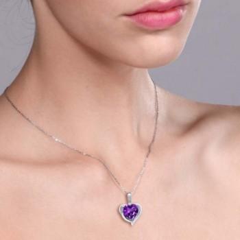 Purple Amethyst Sterling Silver Pendant in Women's Pendants