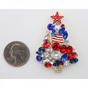 MC Patriotic American Themed Christmas in Women's Brooches & Pins