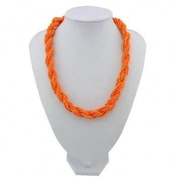 Fashion Statement Collar Necklace NK 10408 orange