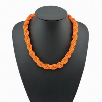 Fashion Statement Collar Necklace NK 10408 orange in Women's Collar Necklaces