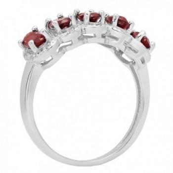 Sterling Silver Garnet Diamond Engagement in Women's Wedding & Engagement Rings