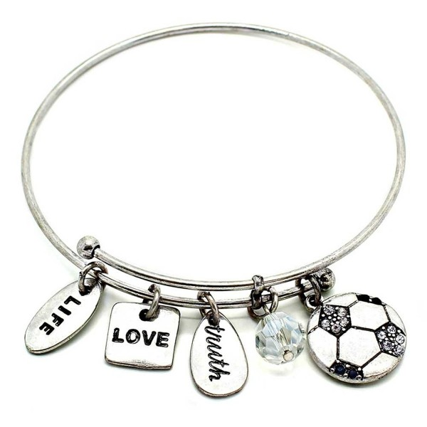 KIS Jewelry Symbology Soccer Bangle Bracelet - CN128EOXT21