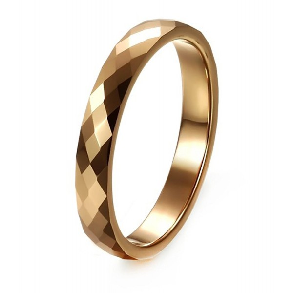 Women S 3mm Tungsten Comfort Fit Wedding Band Ring Multi Faceted