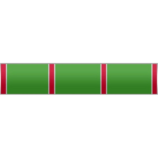 Green with Red stripes and Silver trim Citation Bar Lapel Pin - CH11EIMO4DH