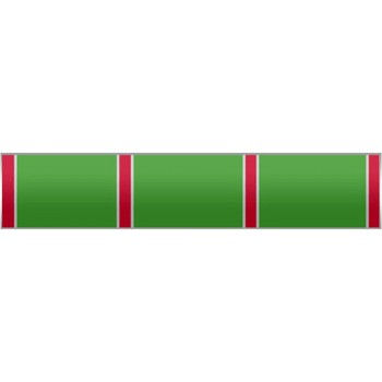 Green stripes Silver Citation Pin