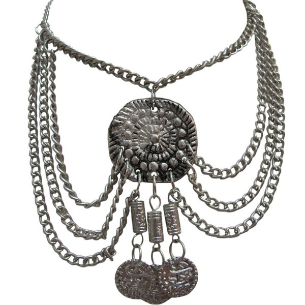 Indian Bohemian Exotic Gypsy Fashion Belly Dance Adjustable Anklet (Silver Tone) - CI11O43K8GR