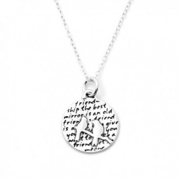 Kevin N Anna Inspirational Sterling Silver Bird Pendant Necklace - Two Birds - CT12M64U96J