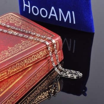 HooAMI Stainless Steel Necklace Sliver in Women's Chain Necklaces