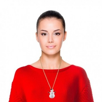 Lux Accessories Snowman Christmas Necklace in Women's Chain Necklaces
