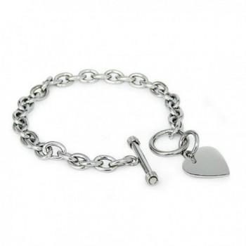 Crazy2Shop Stainless Bracelet Polished Finished - CH1181YGFOJ