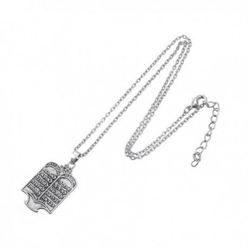 Fashion Tibetan Silvery Commandments Necklace