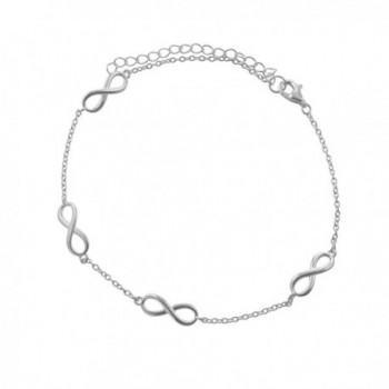 Sterling Silver Infinity Link-Chain Anklet - CM17YYTXUW3