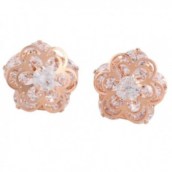 Personalized AAA Cubic Zircon Clip on Earrings Platinum/Gold/ Rose Gold Plated Earring - rose gold plated - CA12NA8GIFN