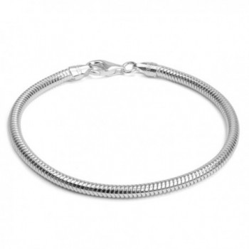 Sterling Silver Italian 3mm Snake Chain 8 Inches - CY123F9RTHV