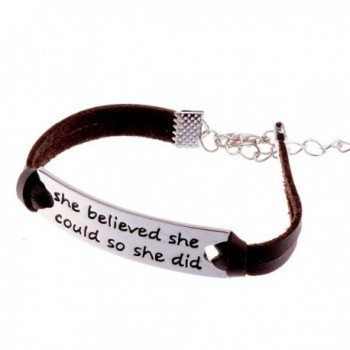 Believed Could Leather Bracelet Inspirational