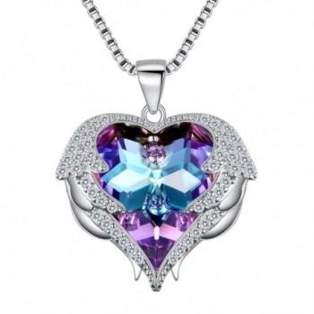 EleQueen Silver tone Necklace Swarovski Crystals - CZ180H52954