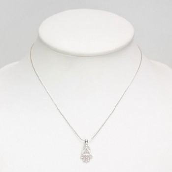 Sterling Silver Filigree Pendant Necklace in Women's Pendants