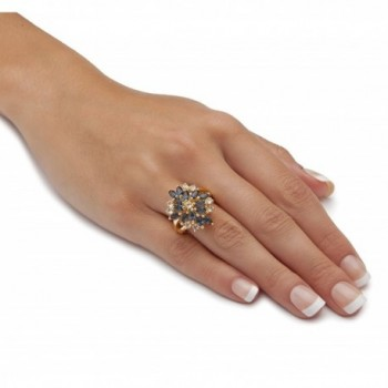 Gold plated Marquise Floral Swarovski Elements in Women's Statement Rings