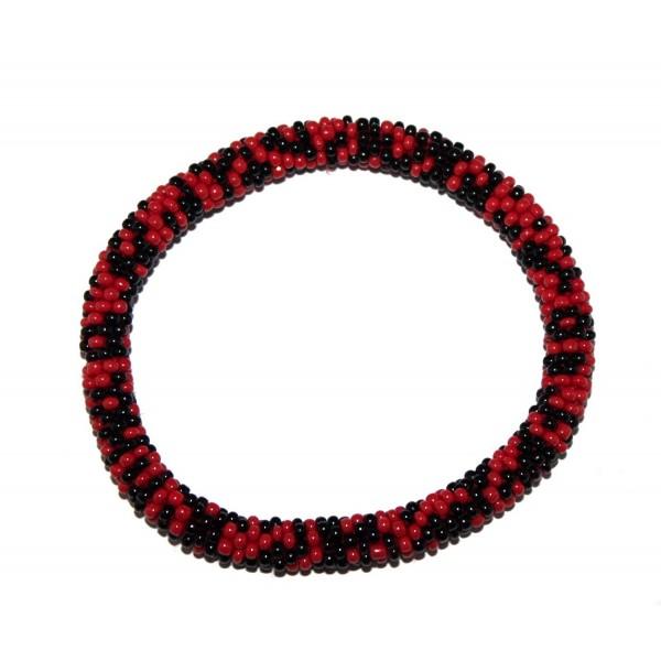Crochet Bracelet Glass Seed Bead Bracelet Roll on Bracelet Nepal Bracelet - CQ12C1WUW59
