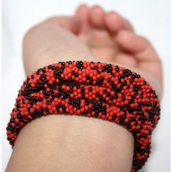 Crochet Bracelet Glass Seed Nepal in Women's Strand Bracelets