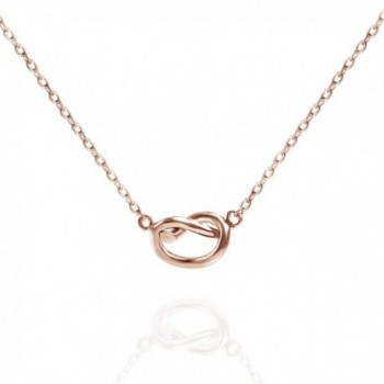 """PAVOI 14K Yellow Gold Plated Infinity """"Forever Love"""" Knot Necklace Pendant - Rose - C5182SZG6SX"""