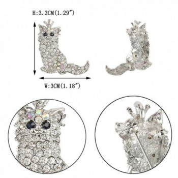 EVER FAITH Persian Austrian Crystal in Women's Brooches & Pins