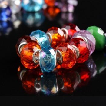 WM KING Silver Lampwork European in Women's Charms & Charm Bracelets