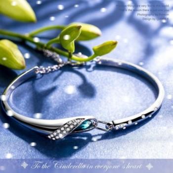 QIANSE Bracelets Swarovski Anniversary Girlfriend in Women's Bangle Bracelets