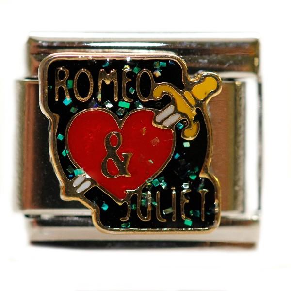 Romeo and Juliet Italian Bracelet Charm Link - CS11GZANFQL