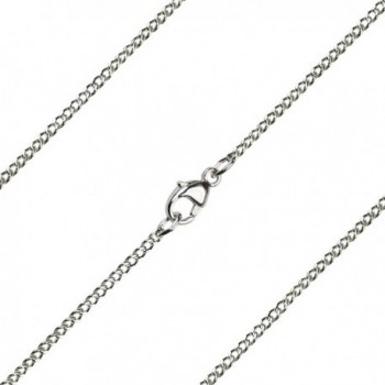 15 inch Sterling Silver Light Curb Chain - C312OBE6H9H
