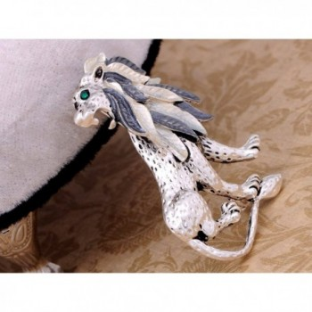 Alilang Silvery Etched Jungle Brooch
