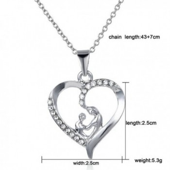 Mothers Shaped Crystal Pendant Necklace