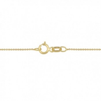 Yellow Filled Cable Chain Necklace