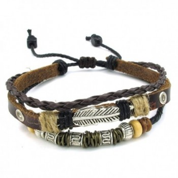 TEMEGO Jewelry Womens Leather Bracelet